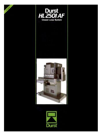 HL2501AF Brochure - durst-pro-usa