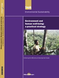 Environment and human well-being - UN Millennium Project