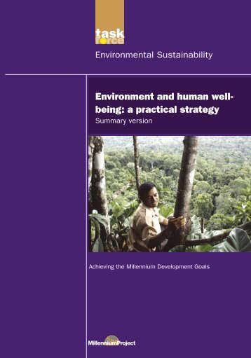 Environment and Human Well-being: A Practical Strategy