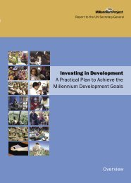 Investing in Development - UN Millennium Project