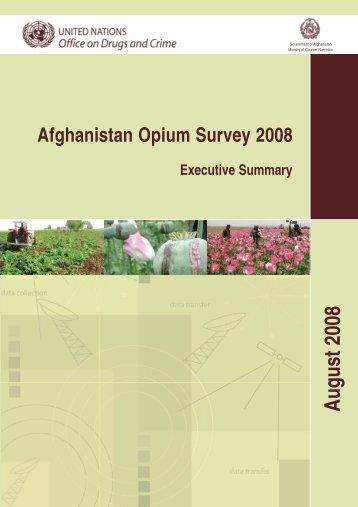 Afghanistan Opium Survey 2008 - United Nations Office on Drugs ...