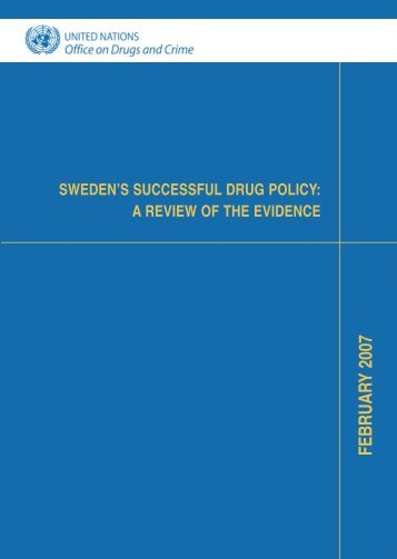 Sweden's successful drug policy - European Cities Against Drugs