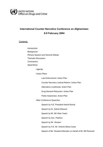International Counter Narcotics Conference on Afghanistan 8-9 ...