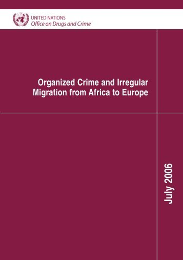 Organized Crime and Irregular Migration from Africa to Europe