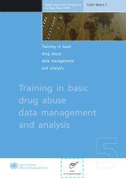 Training in basic drug abuse data management and analysis