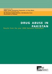 Drug abuse in Pakistan - United Nations Office on Drugs and Crime