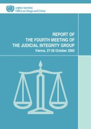 Report of the Fourth Meeting of the Judicial Integrity Group, Vienna