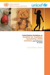 UN Guidelines on Justice in Matters Involving Child Victims ... - Unicef