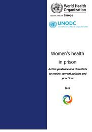 Women's health in prison: action guidance and checklists to review ...