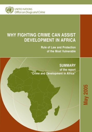 Why Fighting Crime Can Assist Development In Africa