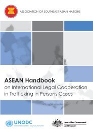 ASEAN Handbook on International Legal ... - (ARTIP) Project