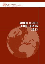 global illicit drug trends 2003 - United Nations Office on Drugs and ...