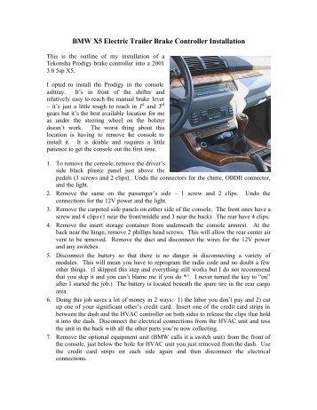 bmw x5 trailer hitch installation instructions