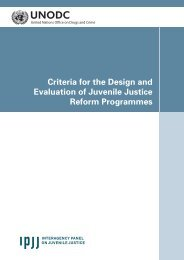 Criteria for the Design and Evaluation of Juvenile Justice Reform ...