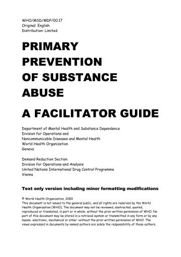 Facilitator's Guide - United Nations Office on Drugs and Crime