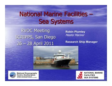 National Marine Facilities - Sea Systems / NERC - UNOLS!