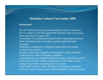 Maritime Labor Convention, US-flag Vessel Compliance - UNOLS!