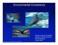 Environmental Compliance - UNOLS!