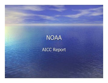 NOAA Report - UNOLS!