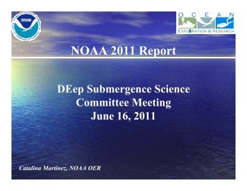 NOAA 2011 Report - UNOLS!