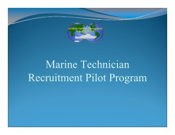 Marine Technician Recruitment Pilot Program - UNOLS!
