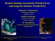 Remote Sensing Assessment of Kelp Forest and ... - UNOLS!