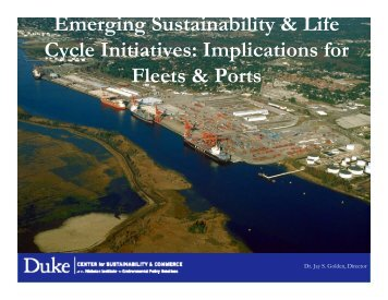 Emerging Sustainability & Life Cycle Initiatives ... - UNOLS!
