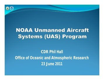 NOAA UAS Program - UNOLS!