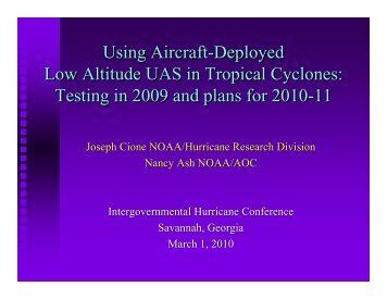 NOAA – 2009 and plans for 2011 Coyote - UNOLS!