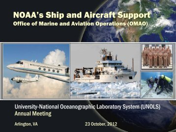National Oceanic and Atmospheric Administration Report - UNOLS!