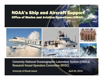 NOAA/OMAO - UNOLS!