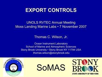 Export Controls - UNOLS!