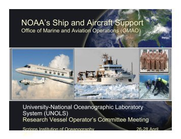 National Oceanic and Atmospheric Administration (NOAA ... - UNOLS!