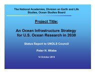 Project Title: An Ocean Infrastructure Strategy for U.S. ... - UNOLS!