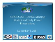 Early Career Scientist and Student Slides - UNOLS!