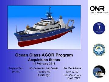 Ocean Class AGOR - UNOLS!