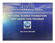 Ship Inspection Program Update - UNOLS!