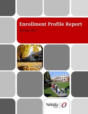 Spring Enrollment Profile Report (.pdf) - University of Nebraska Omaha