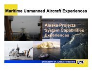 UAF UAS Facilities and Operations - UNOLS!