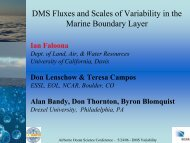 DMS Fluxes and Scales of Variability in the Marine ... - UNOLS!