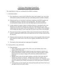 UNO Grace Abbott School of Social Work Comprehensive Exam ...