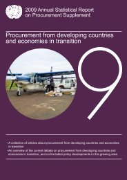 Procurement from developing countries and economies in transition