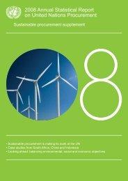 Sustainable Procurement supplement - UNOPS