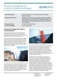 El volcán Nyiragongo y la Unidad de Gestión de Riesgos - UNOPS