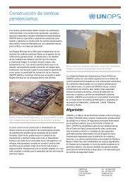 Construcción de centros penitenciarios - UNOPS