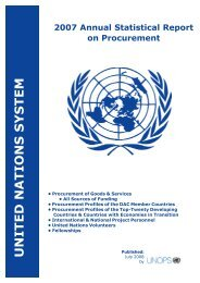 Annual Statistical Report 2007 - United Nations Global Marketplace