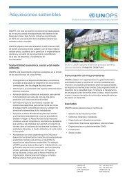 Adquisiciones sostenibles - UNOPS