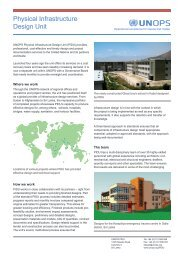Physical Infrastructure Design Unit - UNOPS