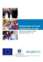 Assessment of Local Governance in Iraq - UNOPS