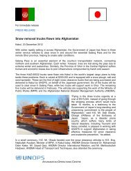 Snow removal trucks flown into Afghanistan - UNOPS